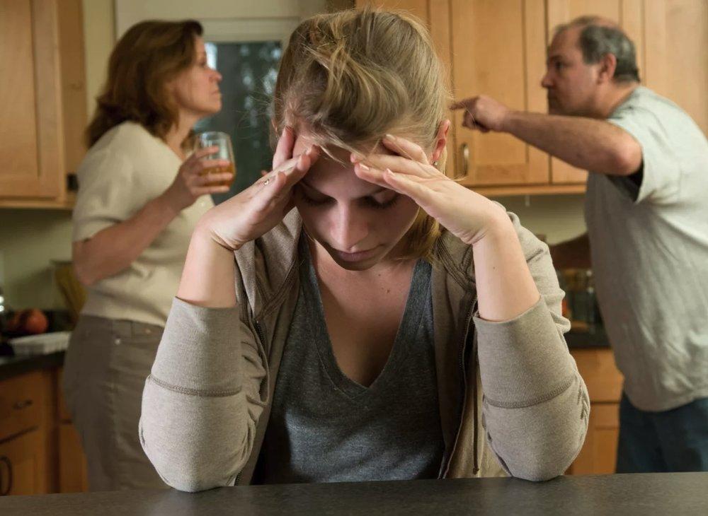 Конфликт родителе из-за алкоголя